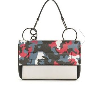 Guess Bags - Guess Gabi Camo Top Handle Studded Cross Body Bag